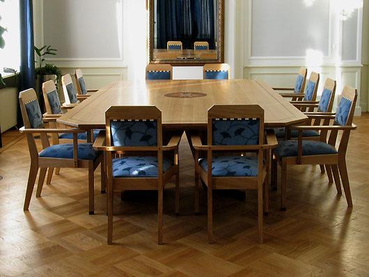 Een Art Deco vergadertafel