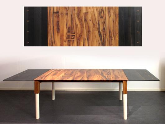Tafel met aanzetbladen
